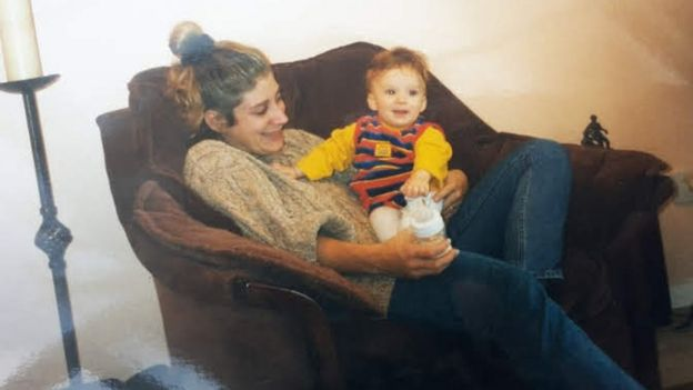 Daisy as a toddler with her mum