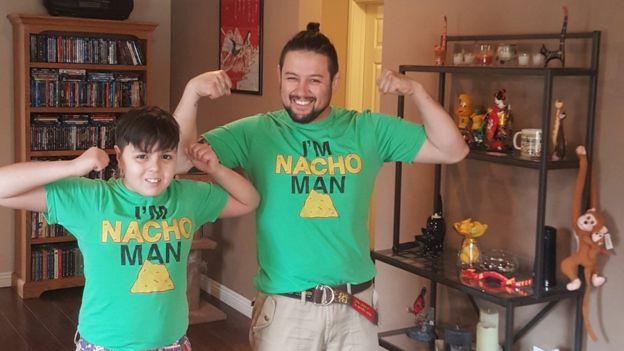 Wilson e o filho Kenzo
