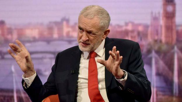 جيريمي كوربين زعيم حزب العمال المعارض في بريطانيا