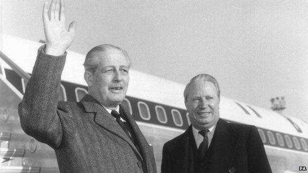 Ted Heath and Harold Macmillan