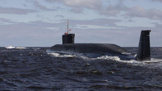 Fájlkép az orosz nukleáris tengeralattjáróról, a Yuri Dolgoruky (2009)