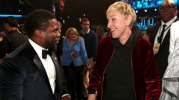 Kevin Hart and Ellen DeGeneres