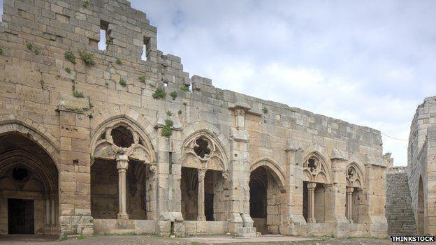 Crac des Chevaliers, or Crusader Castle, in Syria