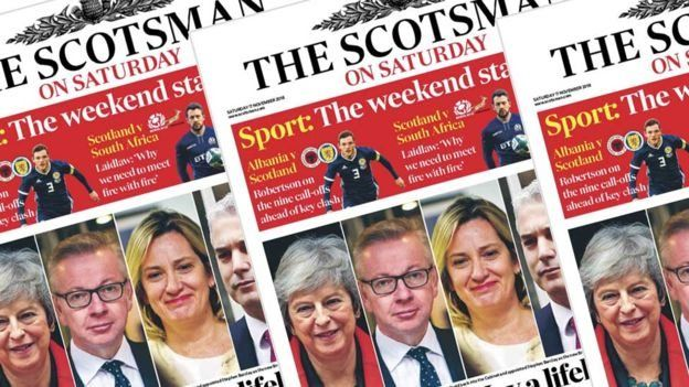 The Scotsman on Saturday front page