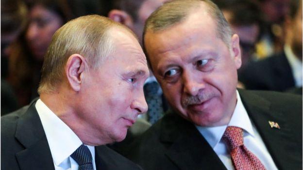 Tayyab Erdogan and Vladimir Putin