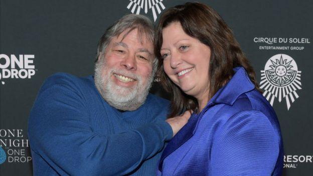 Steve Wozniak y su mujer Janet Hil en una foto reciente. Marzo de 2018