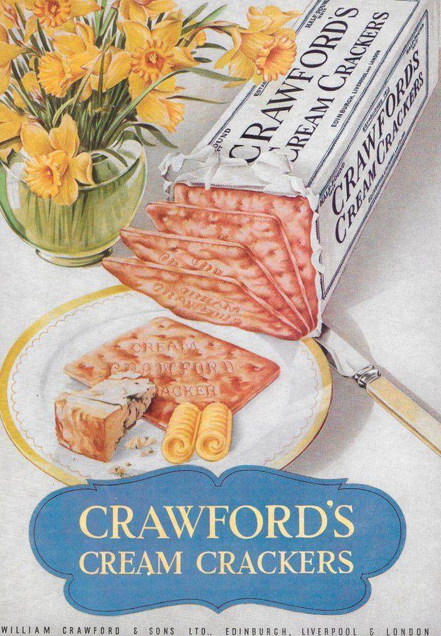 Crawford's cream crackers poster