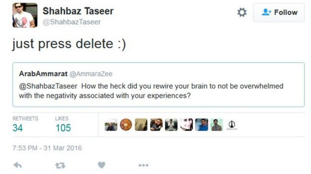 Shahbaz Taseer 'deeply touched' by Pakistan support - BBC News