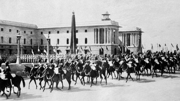استعراض خلال افتتاح العاصمة نيودلهي