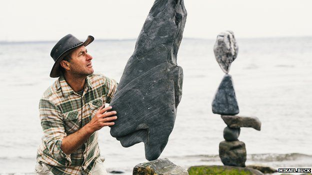 Gravity defying rock sculptures