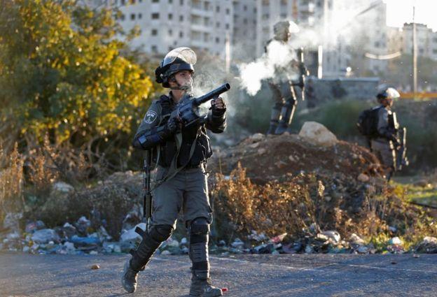Столкновения с полицией произошли также в Рамалле