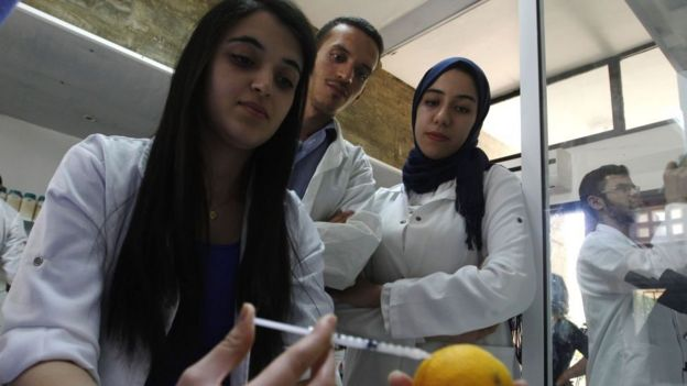 Estudiantes en Marruecos