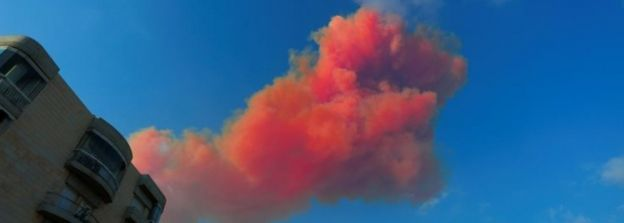Smoke is seen after an explosion in Beirut, Lebanon August 4, 2020
