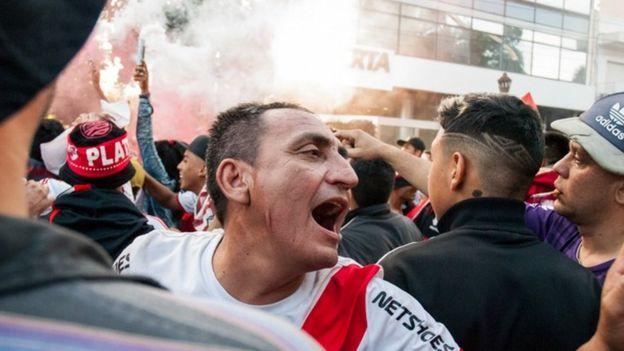 Violencia en las calles de Buenos Aires.