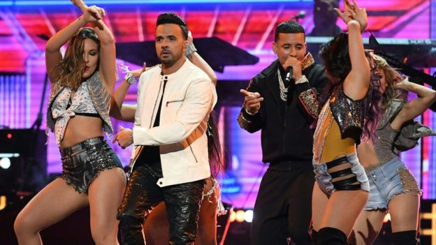 "Luis Fonsi and Daddy Yankee performing ""Despacito"""
