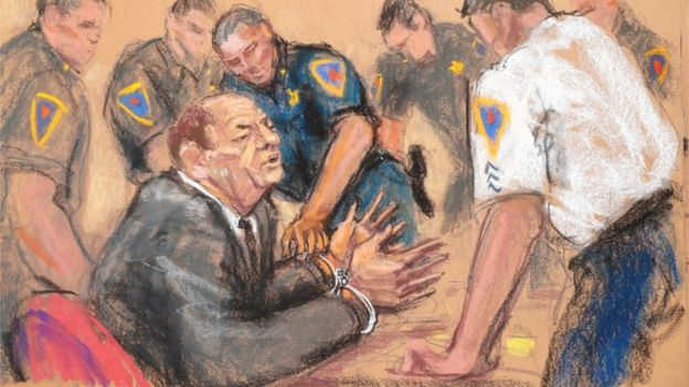 Harvey Weinstein handcuffed after guilty verdict