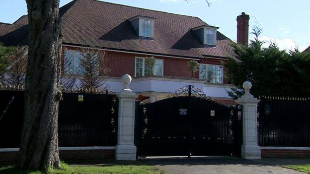 Дом семьи Алиевых на Бишопс-авеню в Лондоне