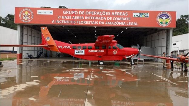Avión de bomberos de Brasil.