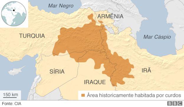 área ocupada por curdos
