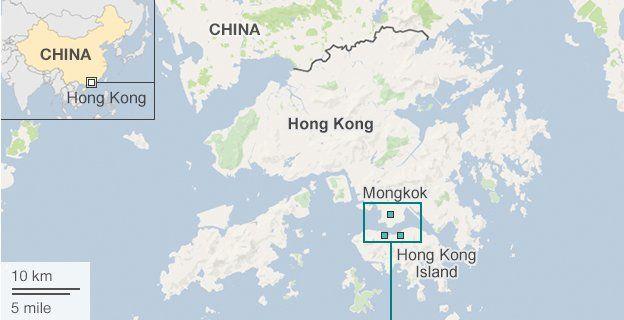 Hong Kong protests map