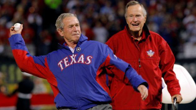 جورج بوش الأب والإبن