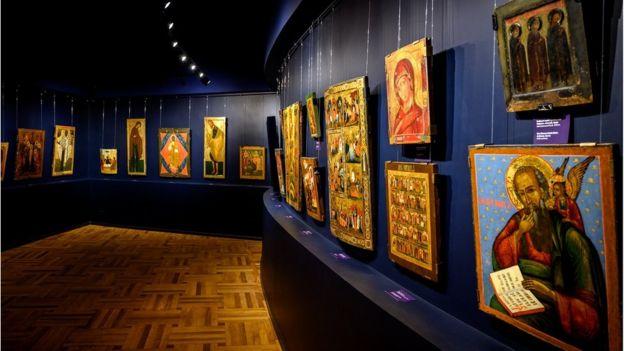 Відновлений іконний зал Одеського художнього музею