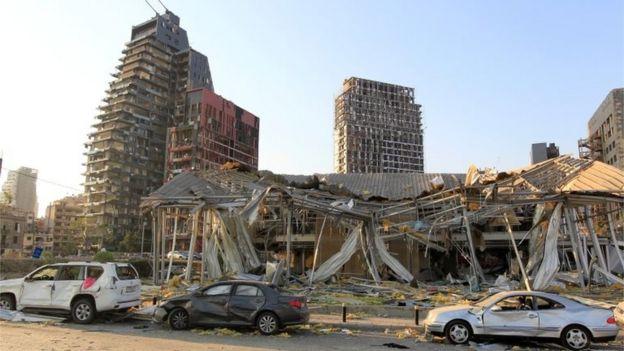 贝鲁特港口区爆炸后情况(5/8/2020)