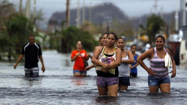 Inundaciones en Puerto Rico, tras el paso del huracán María