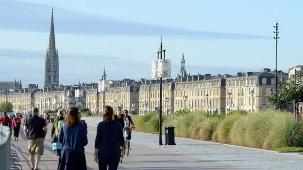 Bordeaux seen from its seafront