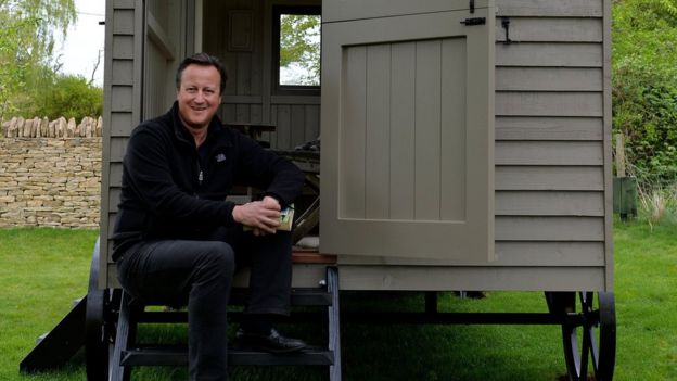 David Cameron on his shed