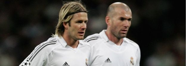 File pic 2006 of David Beckham and Zinedine Zidane