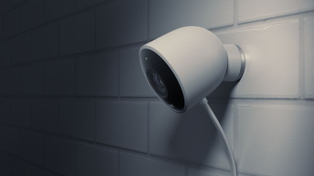Nest Cam Outdoor fixed to a wall