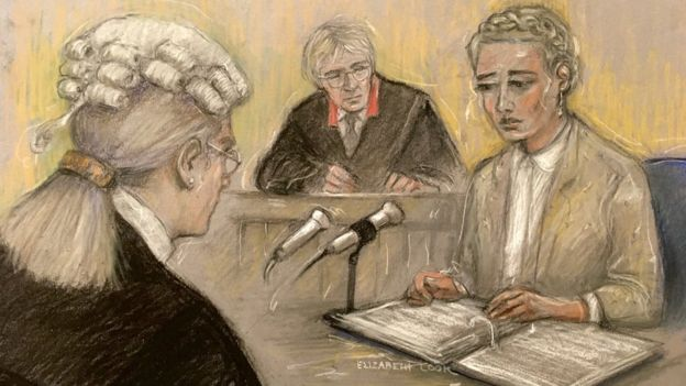 Amber Heard being cross examined in court by Johnny Depp's lawyer