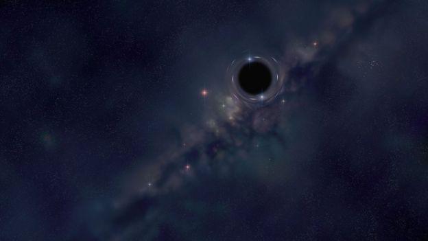 Ilustración de un agujero negro