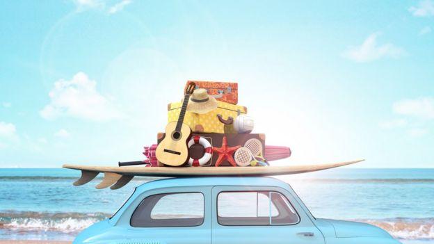 Auto cargado para las vacaciones
