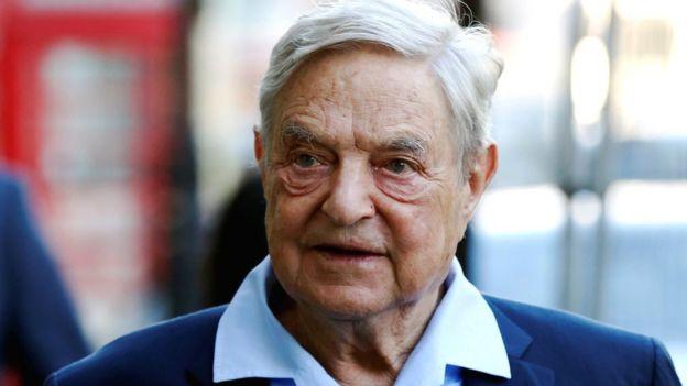 Billionaire businessman George Soros in London, 20 June 2016