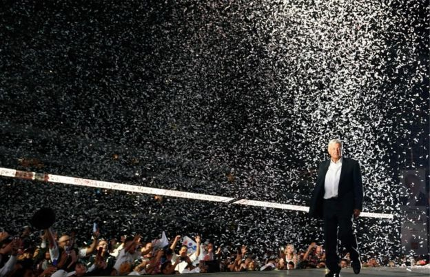 Andrés Manuel López Obrador, candidato puntero a la presidencia de México.