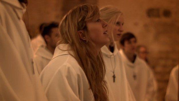 Lord's Prayer advert scene
