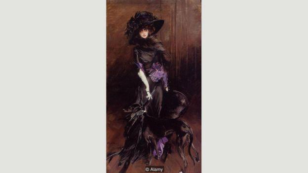 Pintura de la marquesa Casati por Giovanni Boldini en 1908.