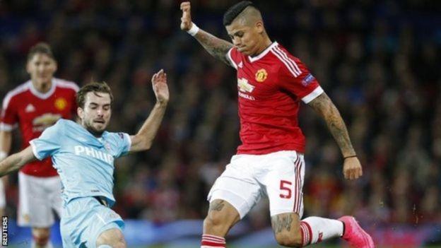 Marcos Rojo, mwenye umri wa miaka 29, atalazimika kuhamia Aston Villa kutoka Manchester United mwezi Januari