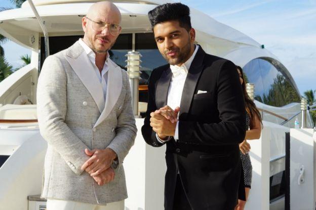 Pitbull and Guru Randhawa