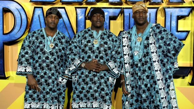 Image result for Hollywood stars and fans wear African attire to Black Panther premiere