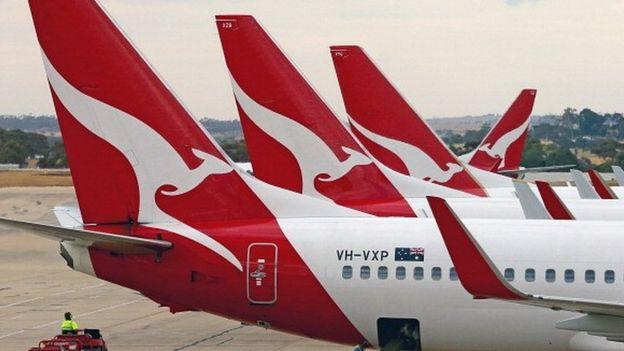 Aviões da Qantas