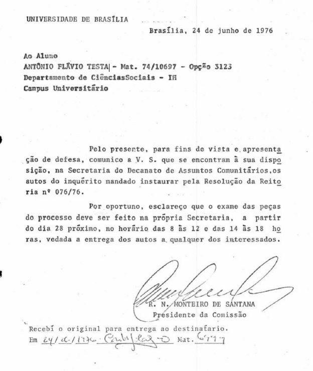 Inquérito sobre Antonio Flavio Testa