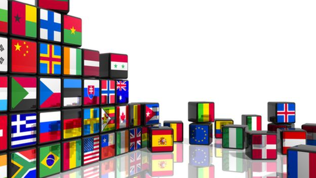 Cubos de banderas