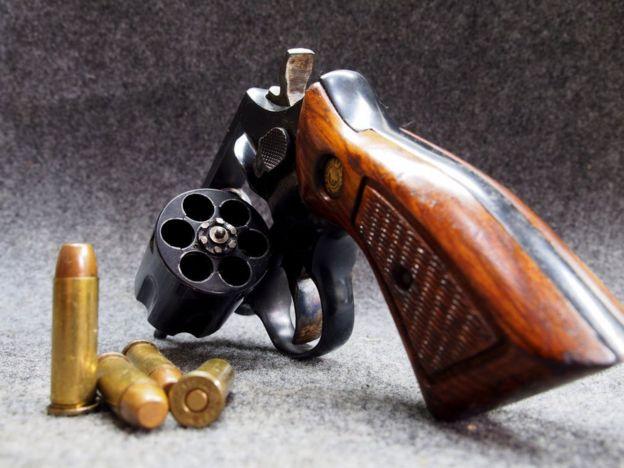 Un revólver Taurus .38mm