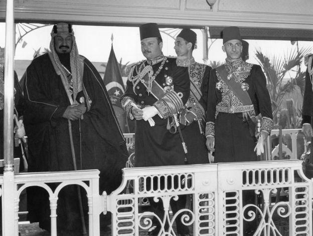الملك فاروق وابن سعود