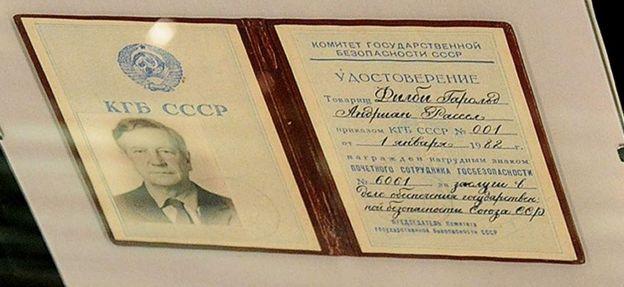 Credencial de la KGB de Kim Philby