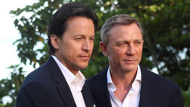 Daniel Craig with director Cary Fukunaga