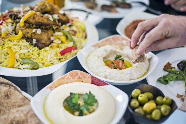 mezze meal on a table